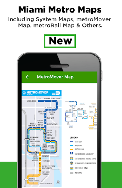Miami Transit App - Bus, Mover and Rail Tracker screenshot 2
