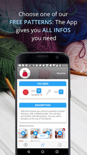 Knitting Genius - Free Patterns & Row Counter screenshot 19