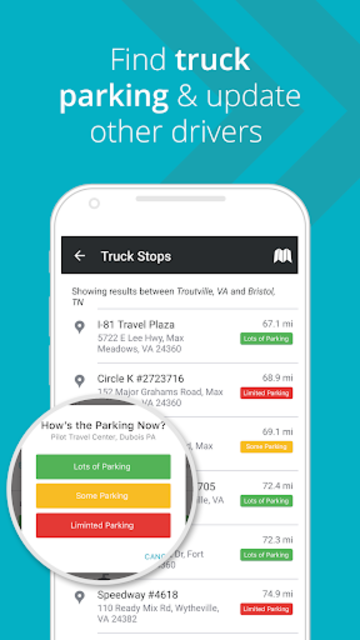 MileOn by PC*MILER - Truck Stops & Truck Routing screenshot 1