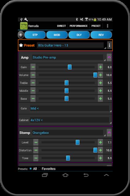Remuda - USB Guitar Amplifier Control App screenshot 15