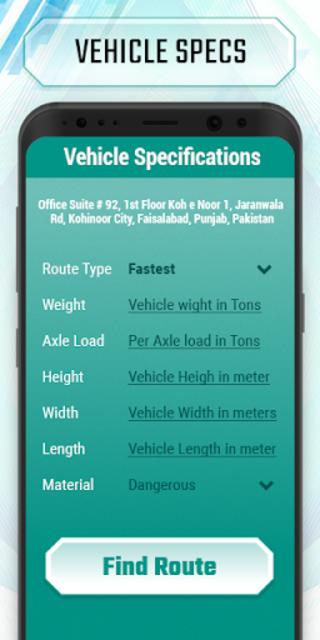 Truck route planner : car& truck route maps online screenshot 2