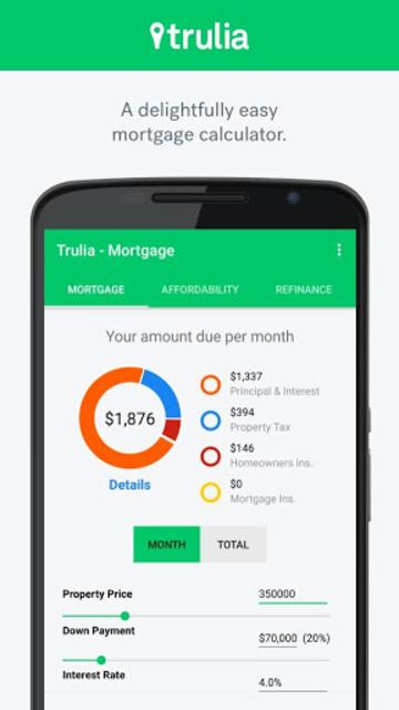 Trulia Mortgage Calculators screenshot 1