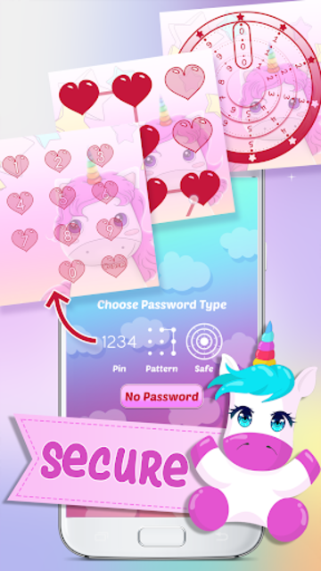 Unicorn Diary with Lock screenshot 4