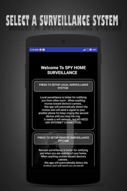 Droid Motion Home Surveillance screenshot 1