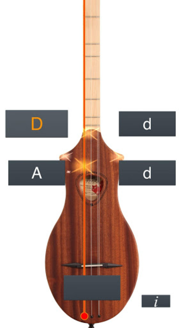 Dulcimer Tuner Simple Mixolydi screenshot 1
