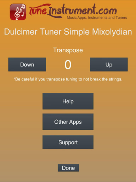 Dulcimer Tuner Simple Mixolydi screenshot 9