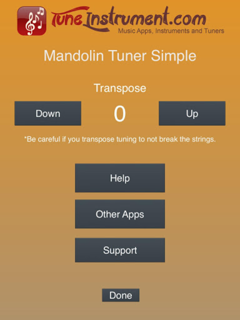 Mandolin Tuner Simple screenshot 14