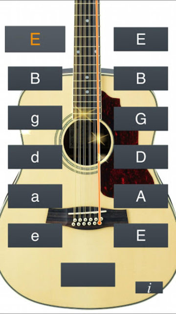12-String Guitar Tuner Simple screenshot 1