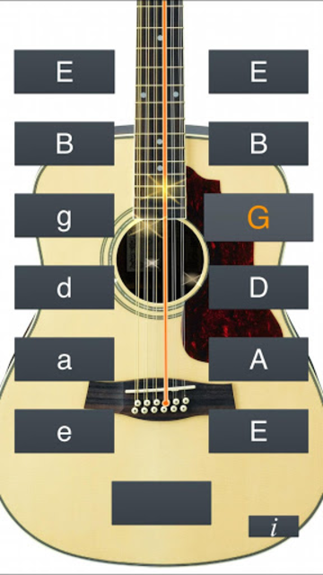12-String Guitar Tuner Simple screenshot 2