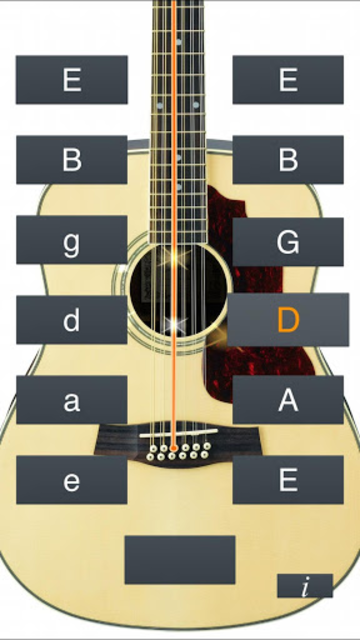 12-String Guitar Tuner Simple screenshot 5