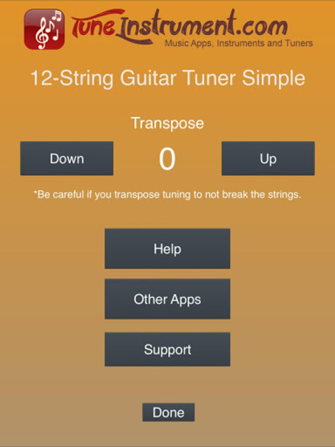 12-String Guitar Tuner Simple screenshot 9
