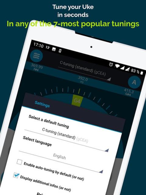Ukulele Tuner Pocket  - Free App screenshot 6