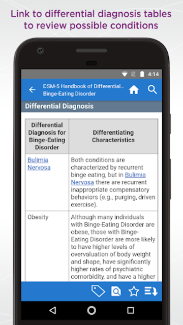 DSM-5 Differential Diagnosis screenshot 4