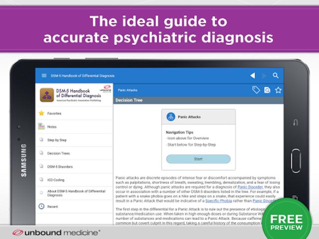 DSM-5 Differential Diagnosis screenshot 6
