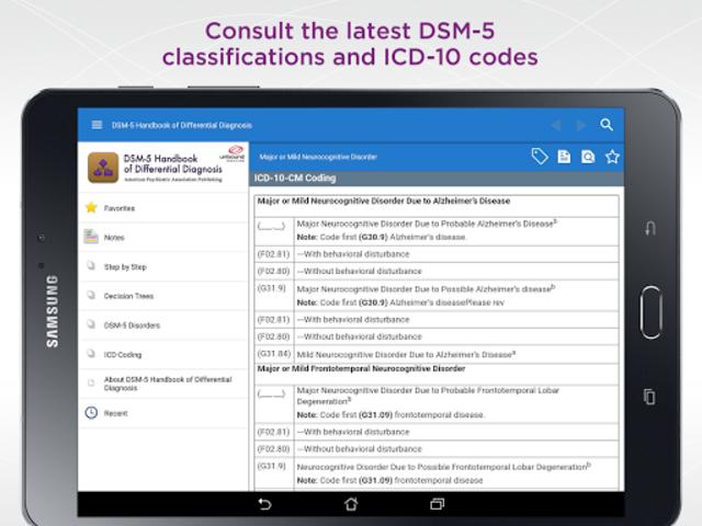 DSM-5 Differential Diagnosis screenshot 10