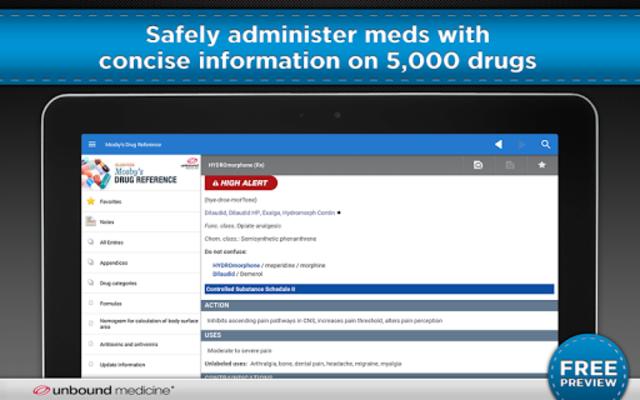 Mosby's Drug Reference screenshot 6