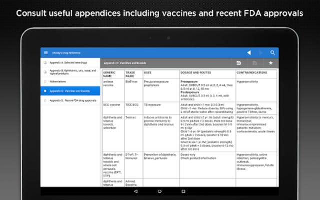 Mosby's Drug Reference screenshot 8