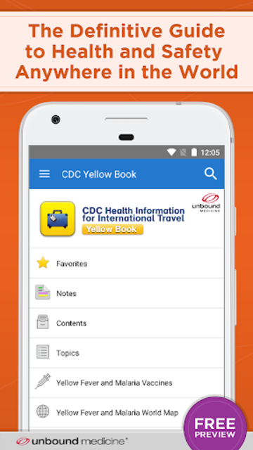CDC Yellow Book 2018 screenshot 1