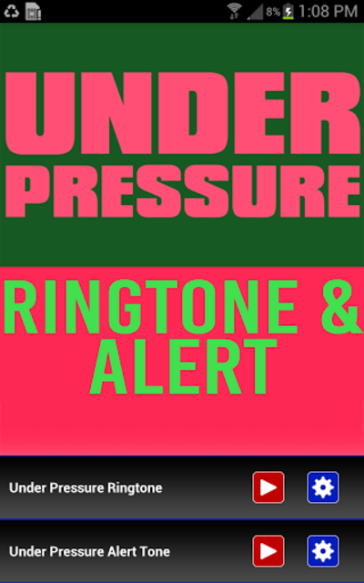 Under Pressure Ringtone screenshot 1