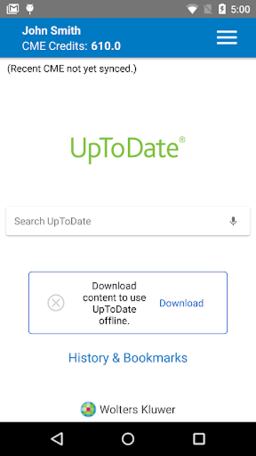 UpToDate for Android screenshot 2