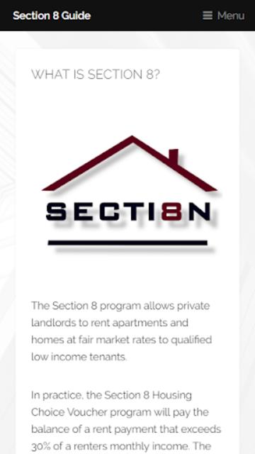 Section 8 Guide screenshot 5