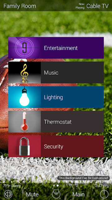 URC Total Control 2.0 Mobile Demo screenshot 1