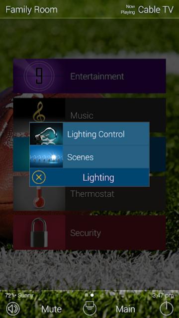 URC Total Control 2.0 Mobile Demo screenshot 2