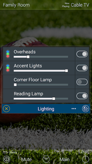 URC Total Control 2.0 Mobile Demo screenshot 3
