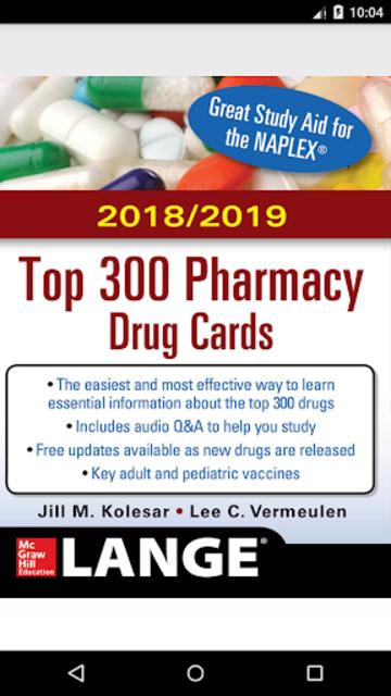 McGraw-Hill's 2018/19 Top 300 Pharmacy Drug Cards screenshot 1