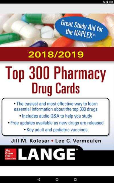 McGraw-Hill's 2018/19 Top 300 Pharmacy Drug Cards screenshot 9