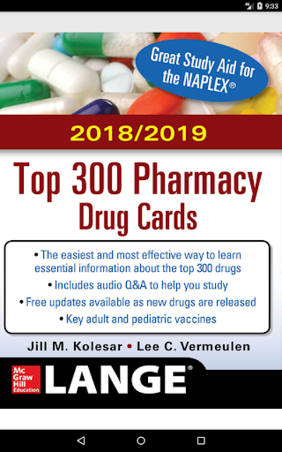 McGraw-Hill's 2018/19 Top 300 Pharmacy Drug Cards screenshot 17