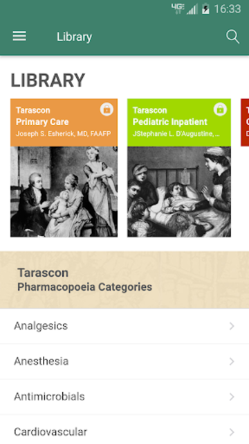 Tarascon Pharmacopoeia screenshot 1