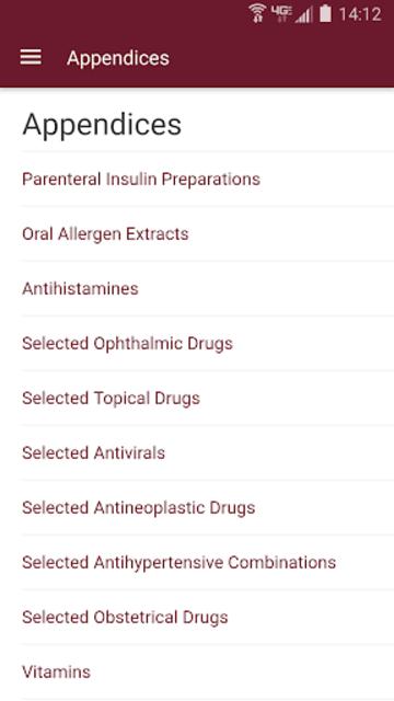 Nurse's Drug Handbook screenshot 2