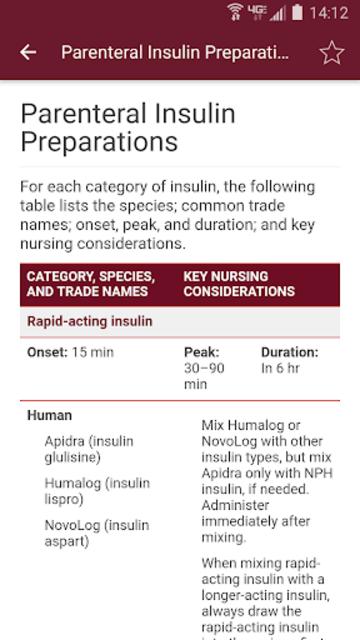 Nurse's Drug Handbook screenshot 3