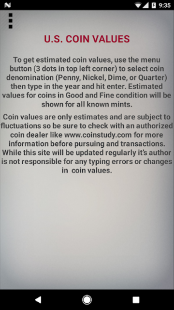 U.S. Coin Values screenshot 1