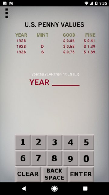 U.S. Coin Values screenshot 2