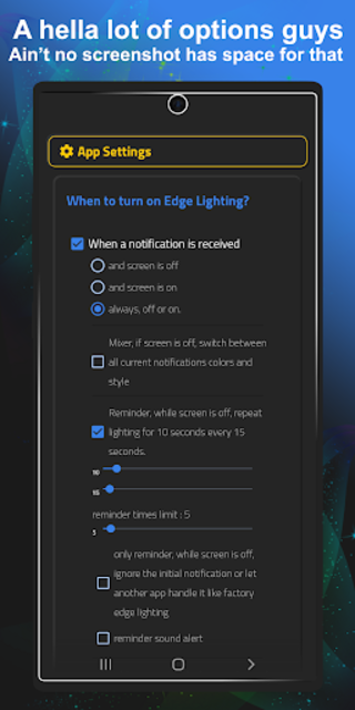 Always On Edge - LED light & AOD & Wallpapers screenshot 3