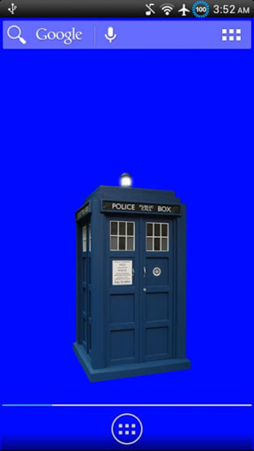 Animated TARDIS Widget screenshot 1