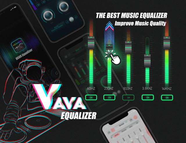Equalizer Sound Booster - VAVA EQ Music Bass Boost screenshot 1