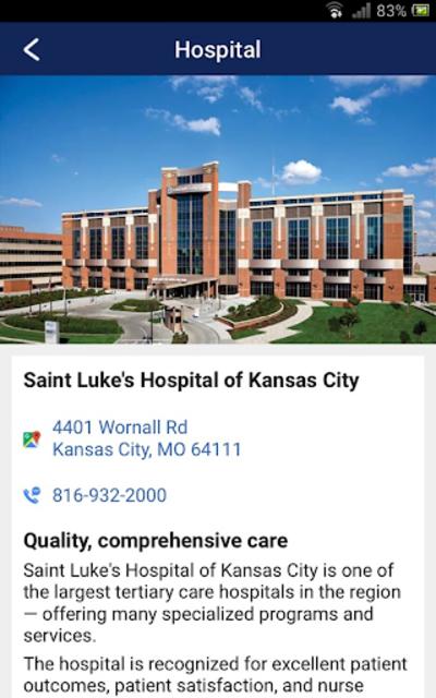 SaintLukesKC screenshot 3