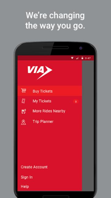 VIA goMobile screenshot 2