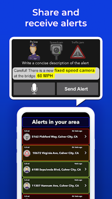 Radarbot Pro: Speed Camera Detector & Speedometer screenshot 4