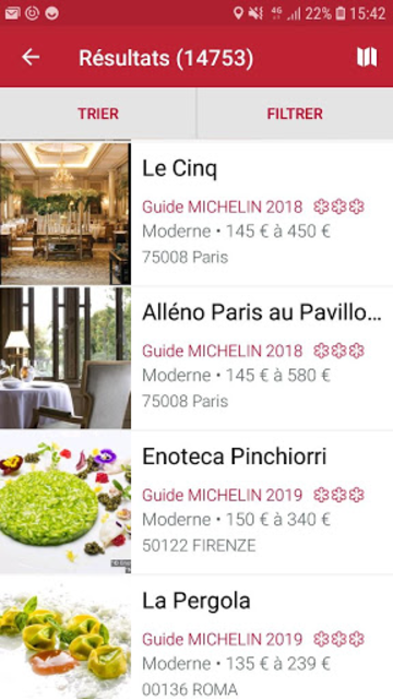 MICHELIN Guide Europe 2019 screenshot 2