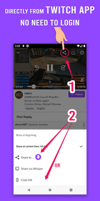 Download Video for Twitch - VOD & Clips Downloader screenshot 1
