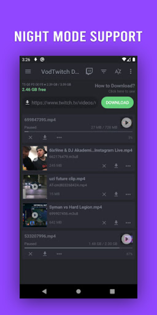 Download Video for Twitch - VOD & Clips Downloader screenshot 4
