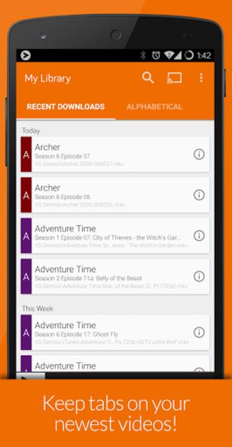 Videostream Chromecast: Mobile screenshot 7