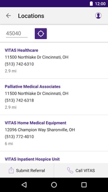 VITAS Hospice Referral App for Healthcare Pros screenshot 6