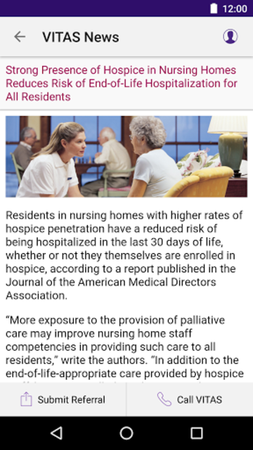 VITAS Hospice Referral App for Healthcare Pros screenshot 8