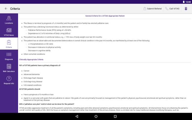 VITAS Hospice Referral App for Healthcare Pros screenshot 10