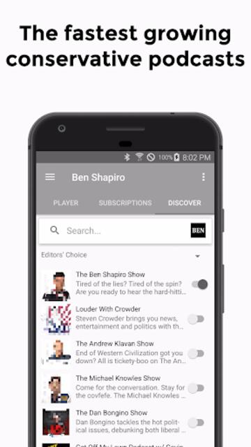 Ben: Listen to Ben Shapiro Podcast screenshot 1